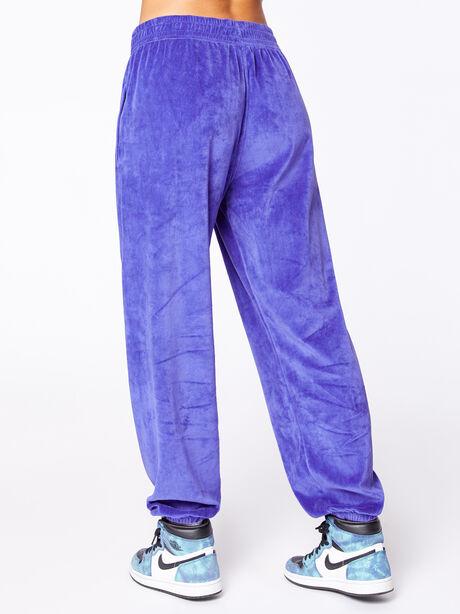 Velour Loose Fit Jogger Spectrum Blue, Blue, large image number 3