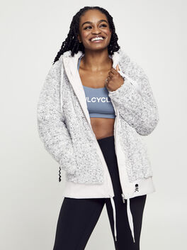 Sherpa Full Zip, Light Chrome/Heathered White, large