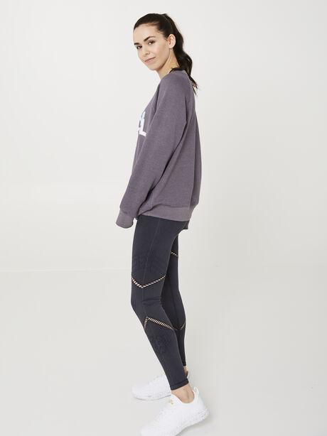 Dropped Shoulder Sweatshirt, Charcoal, large image number 2