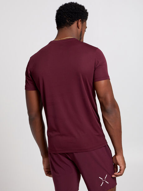 Distance Short-Sleeve Shirt, Maroon, large image number 1