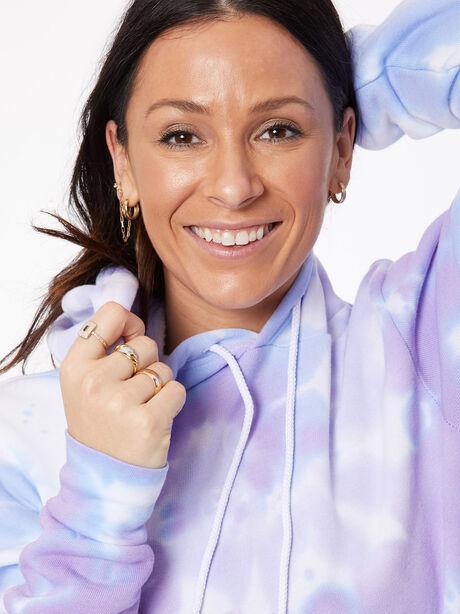 Tie-Dye Billie Hoodie Ice/Lavender, BLUE/PURPLE, large image number 1