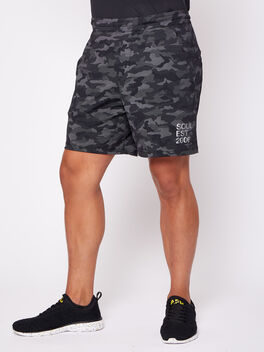 "Pace Breaker 7"" Linerless Shorts, Variegated Mesh Camo Black, large"