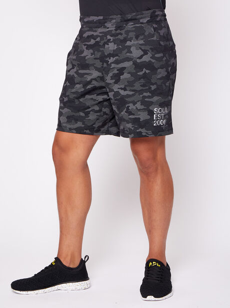 """Pace Breaker 7"""" Linerless Shorts, Variegated Mesh Camo Black, large image number 0"""