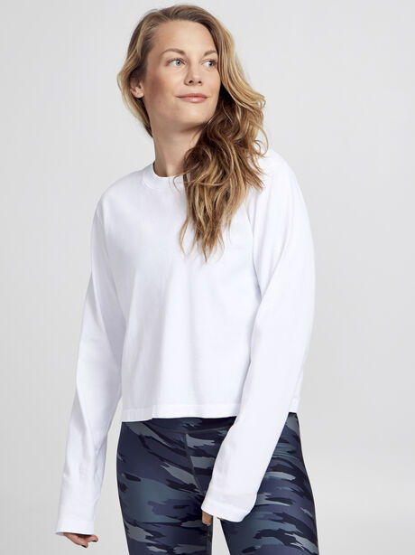 After-Class White Long Sleeve Shirt, White/Black, large image number 2