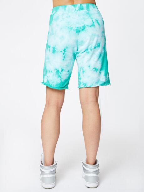Skater Tie-Dye Sweatshort Emerald, Tie Dye, large image number 2