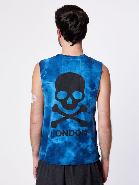 London Muscle Tank, Blue Tied, large image number 1