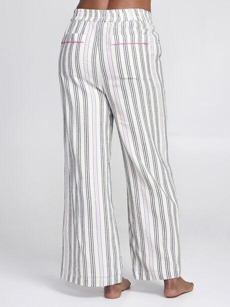 Striped Wide Leg Pants, Natural, large image number 1