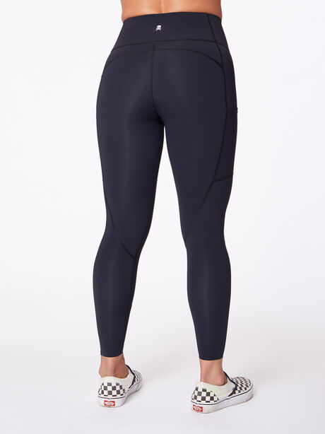 "High-Rise Podium Pocket Legging 25"", Black/Pink, large image number 2"