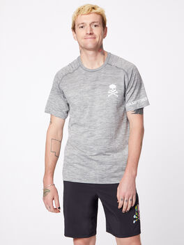 Metal Vent Tech Shirt Slate/White Hamptons, Slate/White, large