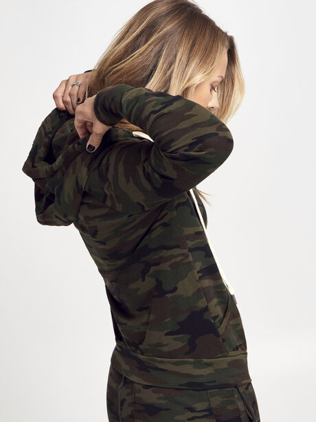 NSF Camo Lisse Hoodie, Green/Camo, large image number 2