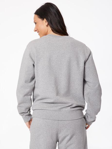 Oversized Crew Neck Sweatshirt Grey Marl, Grey, large image number 3