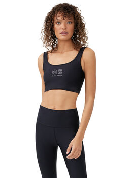 Dynamic Sports Bra Black, Black, large