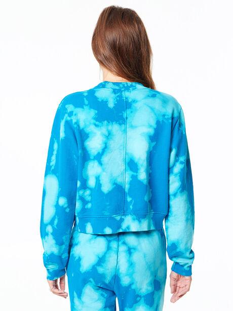 Milan Cropped Sweatshirt Aqua Marine Blast, Aquamarine, large image number 3