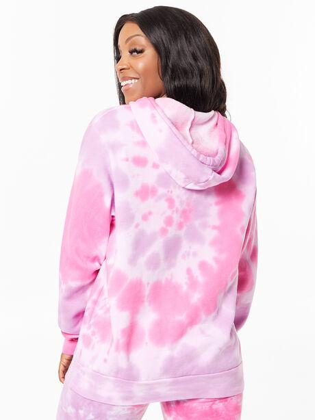 Tie-Dye Billie Hoodie Pink/Purple, Purple, large image number 3