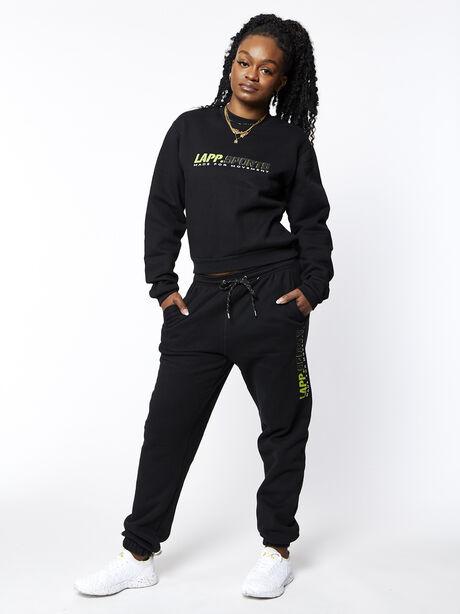 Sports Crew Neck, Black, large image number 2