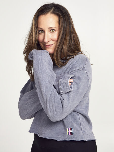 Casey Crop Sweatshirt, Dark Grey, large image number 0