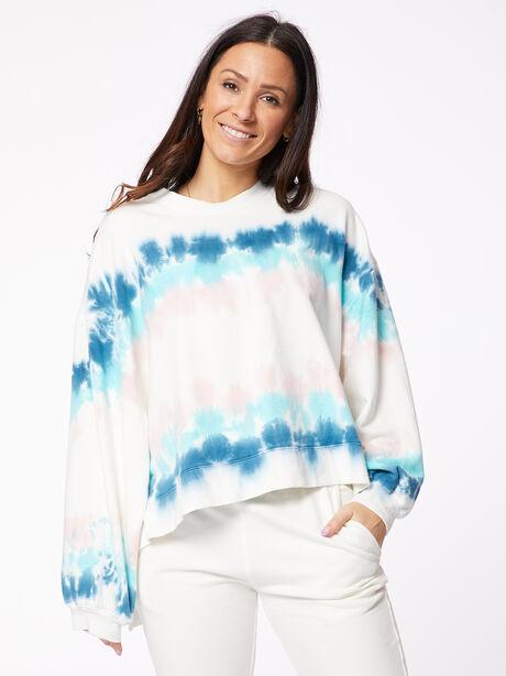 Neil Sweatshirt Balboa Blue/Camilla, White/Blue, large image number 0