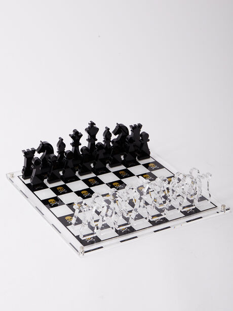 Exclusive Chess Set, White/Yellow, large image number 1