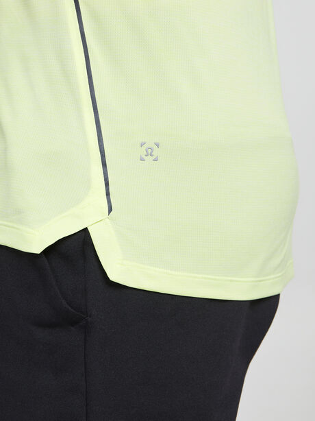 Fast And Free Short Sleeve, Heathered Solar Yellow/Carbon, large image number 3