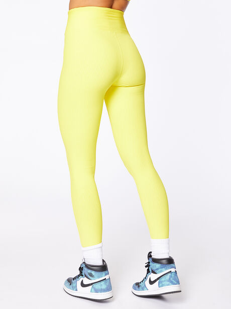 Exclusive Ribbed Football Legging Yellow, Yellow, large image number 2