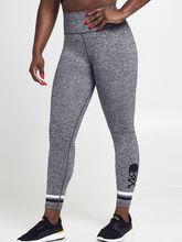 Melange Seamless Leggings, Grey, large