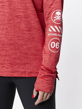 Therma Sphere Element Half Zip, Tough Red/Htr/Lt Fusion Red, large