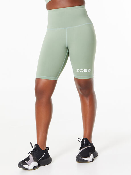 Tulia Mocha Biker Shorts Green, Green, large image number 2