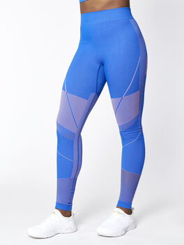 Seamless Contour Legging, Blue, large