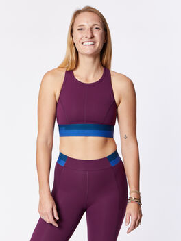 Spar Sports Bra, Blackberry Wine, large