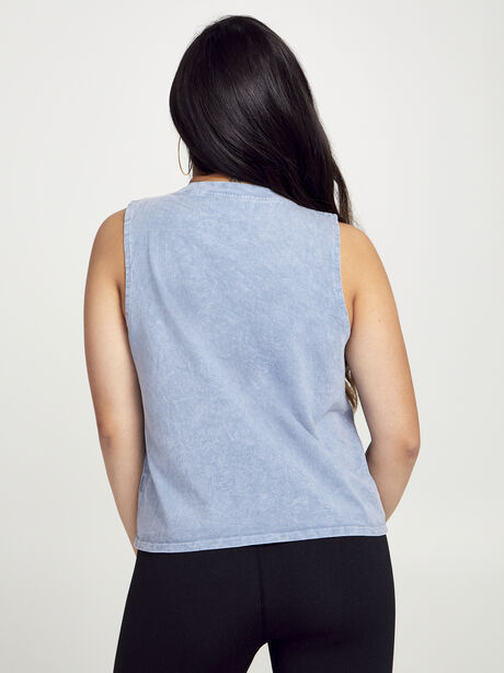 Crop Boxy Muscle Tank, Blue Mineral Wash, large image number 2