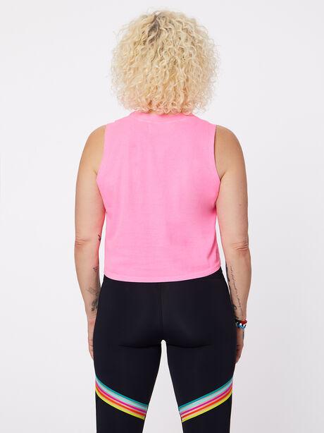 Dylan Crop Tank Hot Pink, Hot Pink, large image number 2
