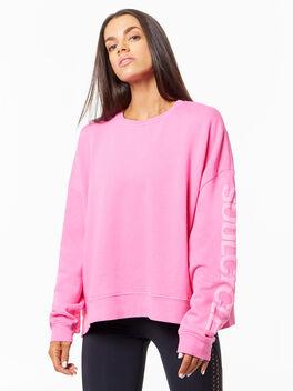 Lounge Sweatshirt Pink, Pink, large