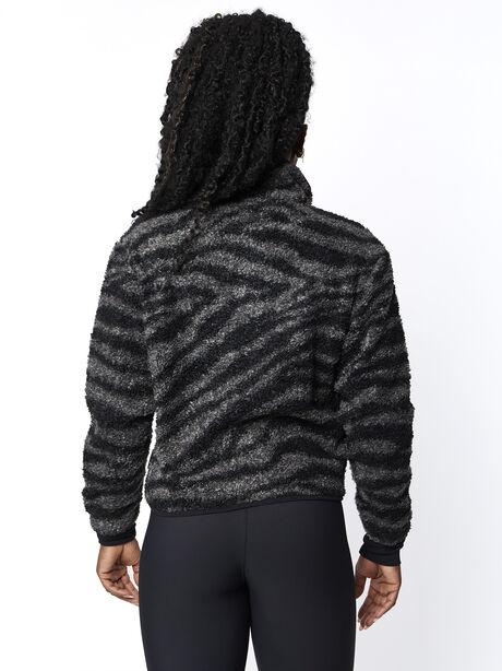 Napoli Sherpa Jacket Zebra, Grey/Black, large image number 3