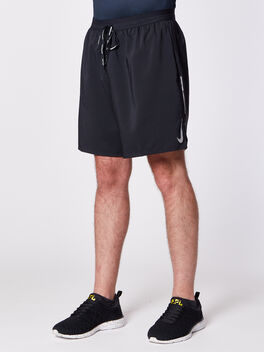 "Dri-Fit Flex Stride 7"" Short, Black/Black/Ref Slvr, large"