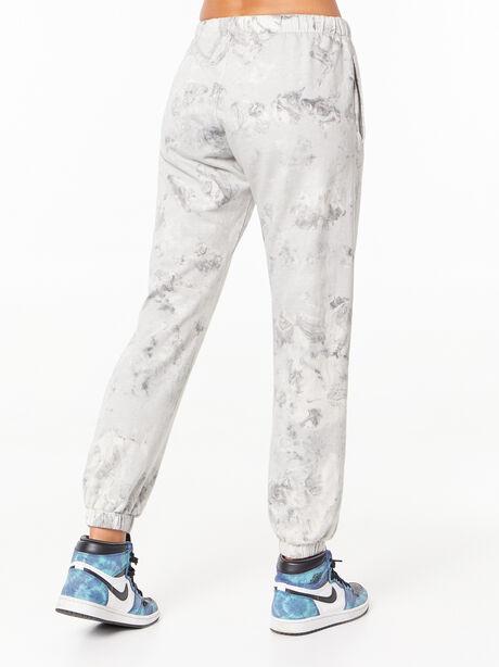 Tie-Dye Billie Sweatpant Black/White, Black/White, large image number 3