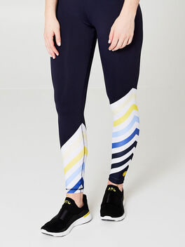 Diagonal Stripe Legging, Navy, large