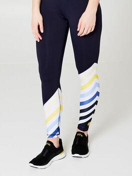 Diagonal Stripe Legging, Navy, large