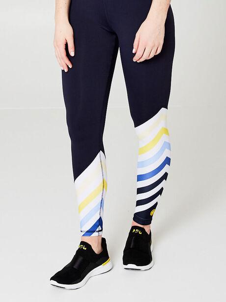 Diagonal Stripe Leggings, Navy, large image number 0