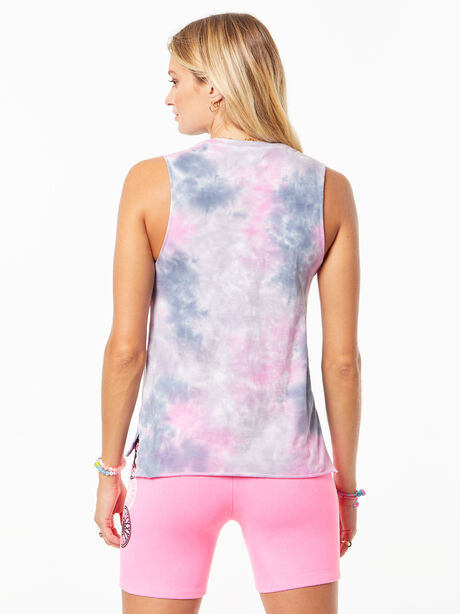 Tie-Dye Mary Tank Pink/Grey, , large image number 2