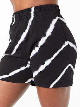 YOS x Lindsey Sweat Short Black Tie Dye, Tie Dye/Black, large