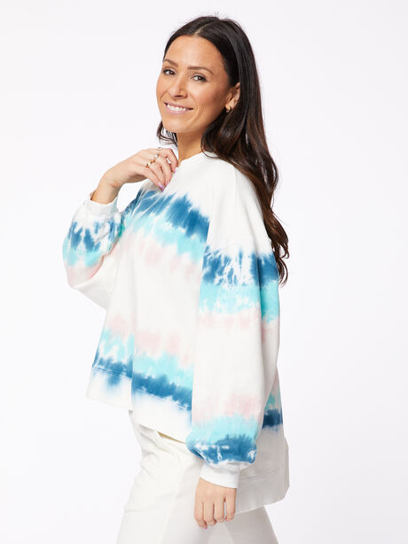 Neil Sweatshirt Balboa Blue/Camilla, White/Blue, large image number 2
