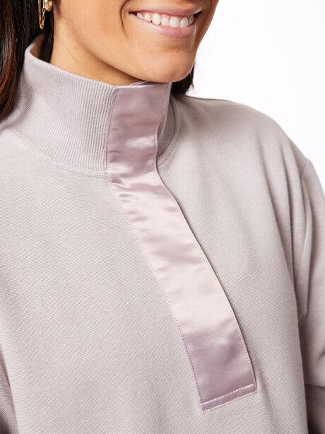 Huston Ribbed Pique Sweatshirt Quail Purple, Purple, large image number 1