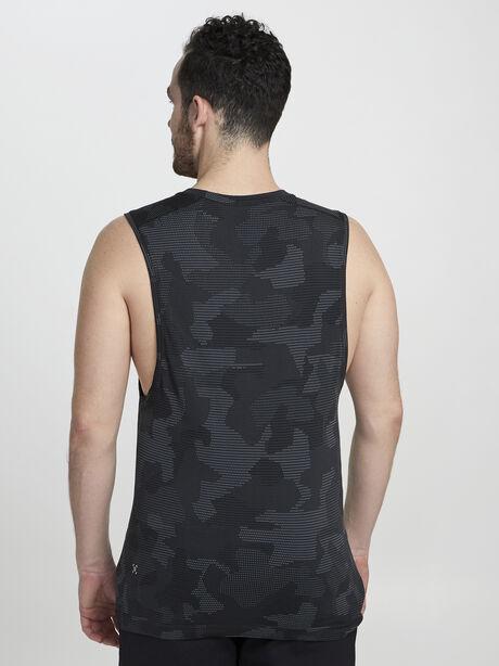 Metal Vent Tech Muscle Tank Geo Camo, Asphalt Grey/Obsidian, large image number 2