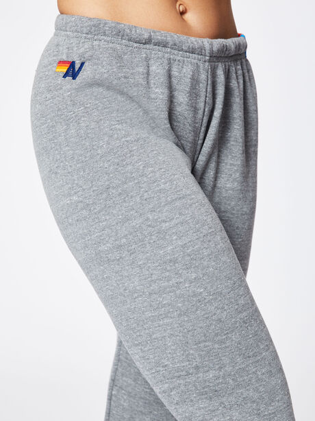 5 Stripe Sweatpant Heather Grey, Heather Grey, large image number 2