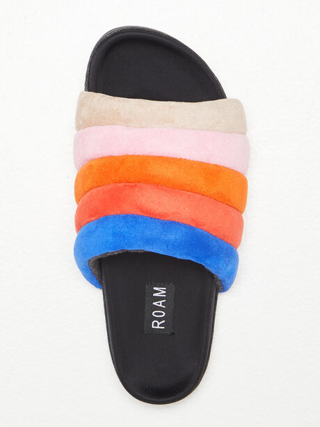 The Puffy Slide Suede Multi, Multi, large image number 1