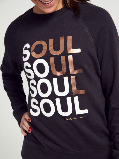 Old-School Crewneck Sweatshirt, Black, large image number 1