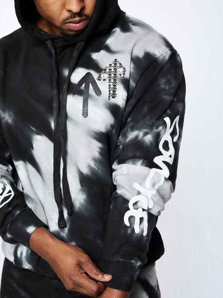 Kingsley Hoodie, Tie Dye/Black, large image number 2