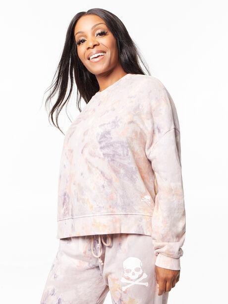 Tie-Dye Lounge Sweatshirt Marble, Tie Dye, large image number 1