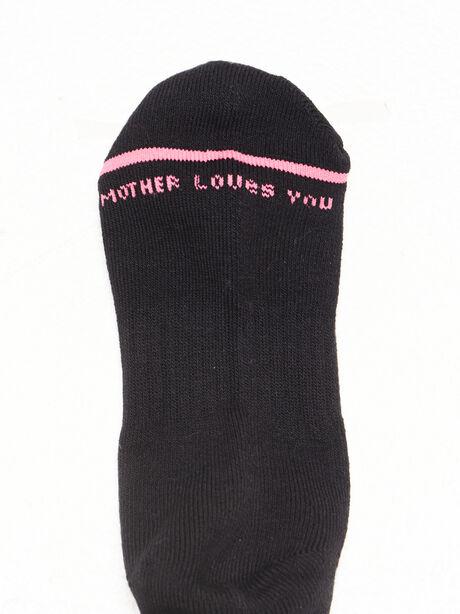 Baby Steps Mid Calf Sock Black, Black, large image number 2