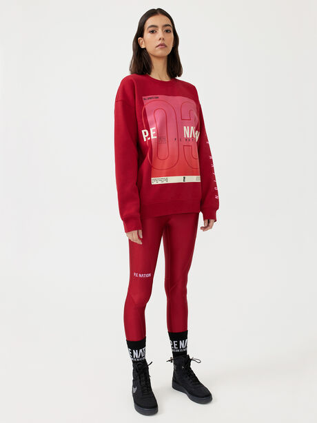 Courtside Sweatshirt Chilli Pepper, Red, large image number 0